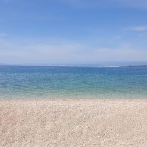Island Krk beach Baška